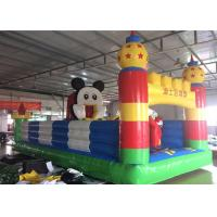 China Mickey Mouse Disney Land Inflatable Jumping Castle With Reinforcement Belts Webbing on sale