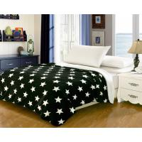 Household Bedding Fleece Flannel Blanket Color Printed With Custom Patterns Manufactures