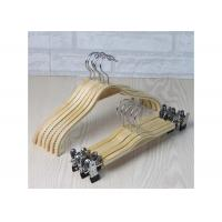 Wooden Laundry Padded Retail Store Hangers , Plywood Material Bulk Coat Hangers Manufactures