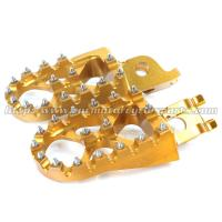 China KX250F KX450F Dirt Bike Wide Foot Pegs , Aluminum Alloy 7075 Motocross Footpegs on sale
