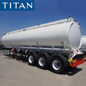 China TITAN Heavy Duty 3 Axles 40000/45000/50000 Liters Diesel Oil Fuel Tanker Truck Semi Trailer on sale