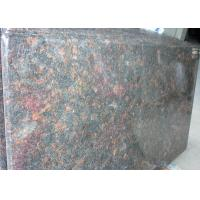 """Tan Brown Prefab Kitchen Island Countertop 37"""" / 47"""" Wide For Hotel Projects Manufactures"""