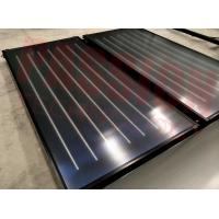 China Aluminum Blue Absorber Flat Plate Solar Collector Hotel Solar Hot Water Heater on sale