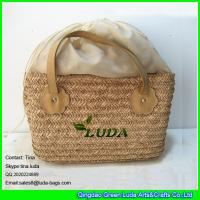 Handmade Seagrass Baskets : Luda nautral handmade seagrass straw basket bag with