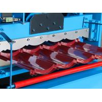 Hydraulic Cutting Steel Sheet Roll Forming Machine / Roof Tile Making Machine Manufactures