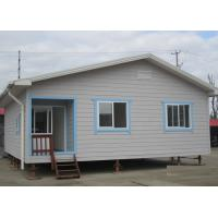 China Galvanized Prefab Steel Houses With Fiber Cement Board ISO Approval on sale