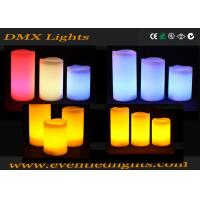 Color Changing Pillar Led Flameless Candles With Remote Control , ON / OFF button Manufactures