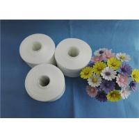 China 100 Percent Virgin Raw White 60 / 3 Spun Polyester Yarn on Plastic Cone on sale