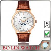 Moon Phase Brand Genuine Leather Watches For Women True Nail Index Style Manufactures