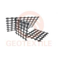 3.95m High Strength Polyester Geogrid 100m Length Environment Friendly Manufactures