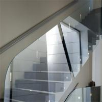 China supplier beautiful indoor staircase frameless standoff glass railing Manufactures