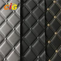 China High Quality Car Seat Car Floor Embroidery PVC leather with High Density Foam on sale