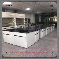 Heavy Chemical Laboratory Furniture  / Lab Tables Work Benches With Faucet Manufactures