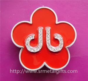 China Flower design enamel women belt buckle, enamel metal belt buckle for women belt, on sale