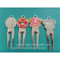 Enamel colour filled golf pitchfork repairer supplier China, enamel golf divot tools, Manufactures