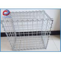 Low Carbon Steel Welded Gabion Box With 50mm Hole Size Simple Installation Manufactures