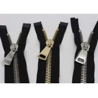 28 Inch Reversible Long Heavy Duty Metal Zippers Gold And Silver Teeth For Bags Manufactures