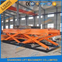 7T Heavy Duty Stationary Hydraulic Scissor Lift with Roller for Cargo Scissor Lift with TUV Manufactures