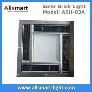 8x8 inch Square Solar Paver Lights Patio Garden Landscaping Solar Underground Lights Solar Brick Lights Manufactures