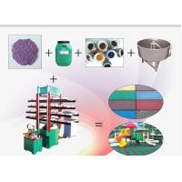 Buy cheap Colored Flexible Rubber Floor Tiles Production Line,Rubber Tile Floor Making from wholesalers
