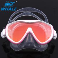 Scuba Adjustable Scratch resistant Diving Mask Silicone Skirt Tempered Glass Lenses Manufactures