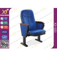 China 560mm Center Distance Fabric Cushion Auditorium Chairs Meeting Room on sale