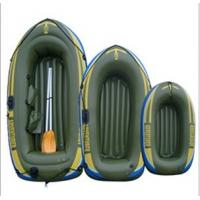 0.55mm PVC Inflatable Boat Army Green For Three Person Manufactures