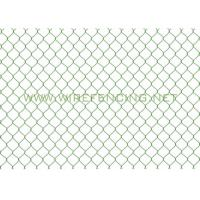 China High Quality hot dipped galvanized diamond wire mesh used chain link fence on sale