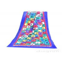 China Reactive Large Snakes And Ladders Game Beach Towel Printing 400gsm wholesale