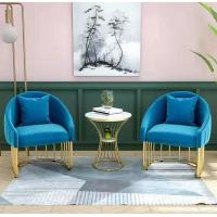 Colorful Fashion Upholstered Dining Chairs With Metal Legs And Soft Cushion Manufactures