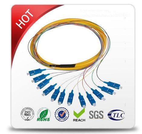 Quality FC / APC - FC / APC Single Mode Patch Cables Top Grade PVC Cable Outer Jacket for sale
