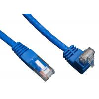 90 Degree RJ45 Angled Cat 6 Network Cable ABS Plug Material For Telecom Communication Manufactures
