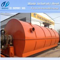 Capacity 10ton D2200*L6600mm recycle plastic to oil machine Manufactures