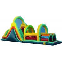 PVC Tarpaulin Inflatable Castle Bouncer , Custom Inflatable Obstacle Manufactures