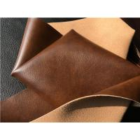 China Beige Imitation Upholstery Synthetic Leather Fabric For Furniture wholesale