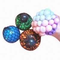 China Mesh Squish Balls, Available in Various Colors, Made of TPR on sale