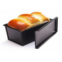 Quality Baking Carbon Steel Loaf Bread Pan , Bread Toast Mold With Cover 1.5mm for sale