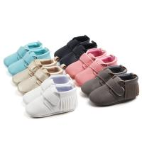 China New style microfiber Leather PU Tassel Casual outdoor infant shoes for baby on sale