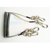 Steel Spring Coil Tool Lanyard With 8 Shape Swivel / Stainless Carabiner