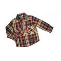 Dyeing 100% Cotton Colorful Bottom - Up Front Boy Kids Plaid Shirts With unique design Manufactures
