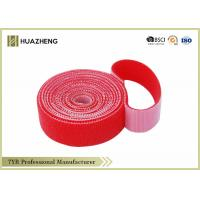 Red Adjustable Nylon Double Sided Hook And Loop Tape Industrial Strength Manufactures