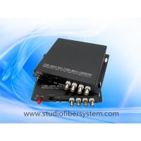 4CH analog video media fiber converter for coaxial and ip camera hybrid application Manufactures