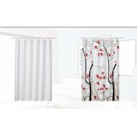 China Colorful Custom Hotel Shower Curtain , Mildew Resistant Peva Shower Curtain on sale