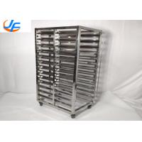 Quality 12 Tier 60x40cm Baking Tray Trolley / Stainless Steel Rack Tray Trolley for sale