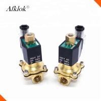 N/O 1 Inch Brass High Temperature Solenoid Valve Polit Type For Water Gas Oil Manufactures