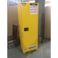 Yellow Industrial Safety Cabinets , Flame Proof Storage Cabinets With Double Lock with wheel Manufactures