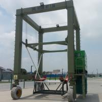 Hydraulic Boat Lifting Rubber Tire Ship Gantry Crane ISO / CE / SGS Certification Manufactures