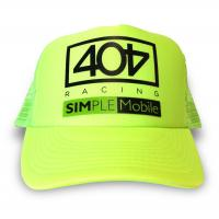 3d Embroidered Fluorescent Green Racing Baseball Caps For Sports Men With Velcor Strap Manufactures