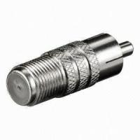 f female to rca male connector, multiple rca to f type connector