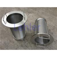 Lehler Wedge Wire Filter Elements High - Precision Slot Opening Dia 168mm Manufactures